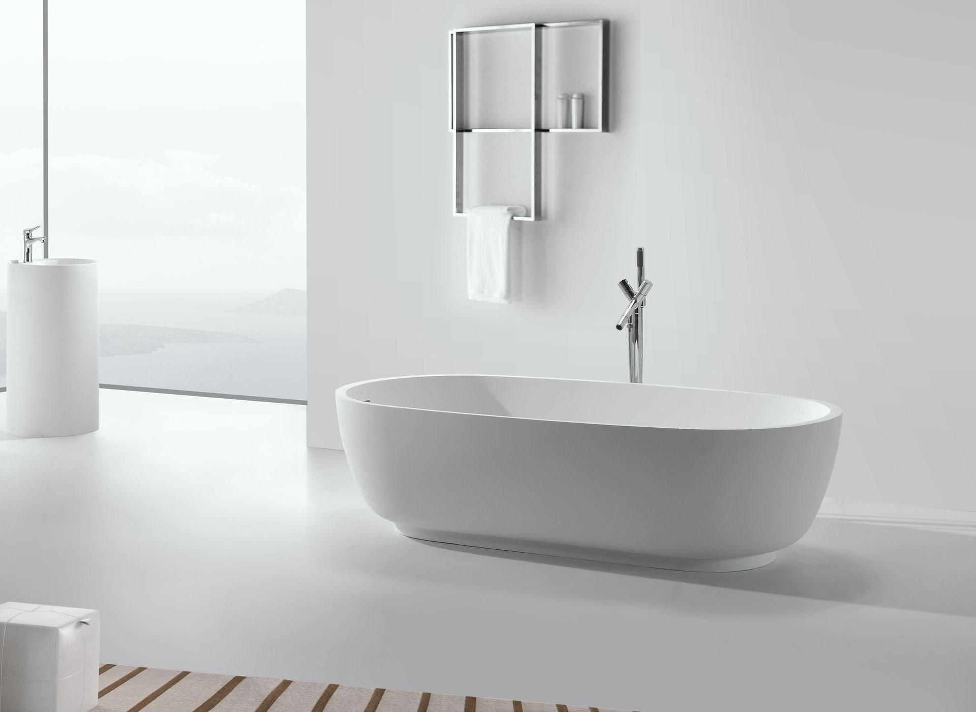 mineralguss badewanne affuso freistehend glasdeals. Black Bedroom Furniture Sets. Home Design Ideas