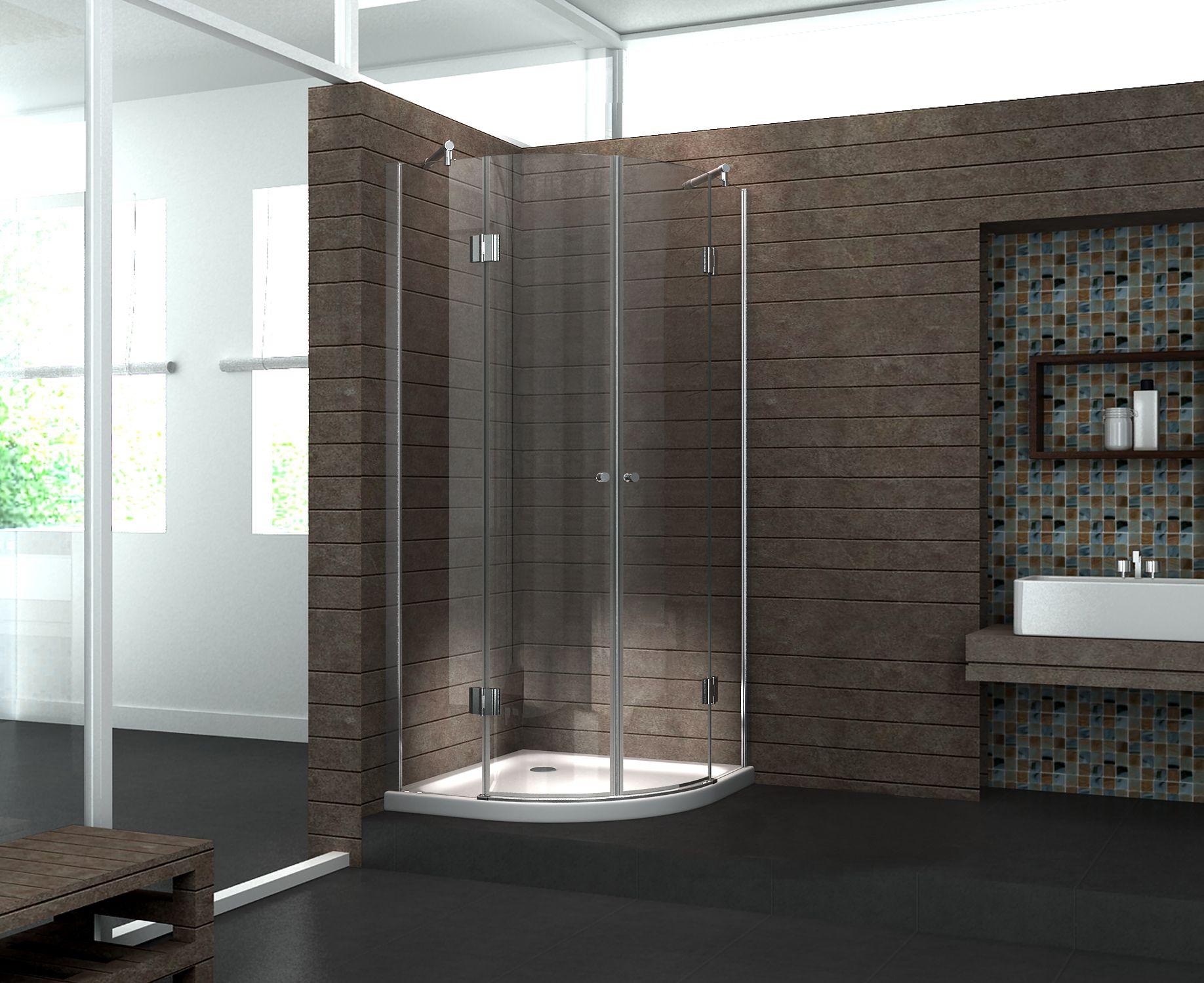 duschkabine angolo 80 x 80 x 185 cm viertelkreis inkl duschtasse. Black Bedroom Furniture Sets. Home Design Ideas