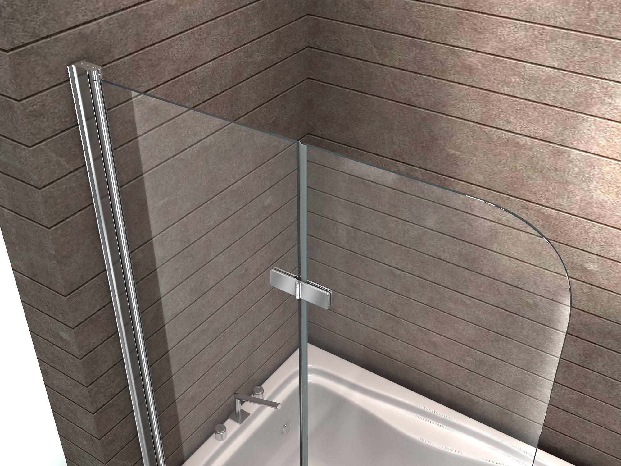 Duschtrennwand Glas : Duschtrennwand BREASE 120 x 140 (Badewanne ...