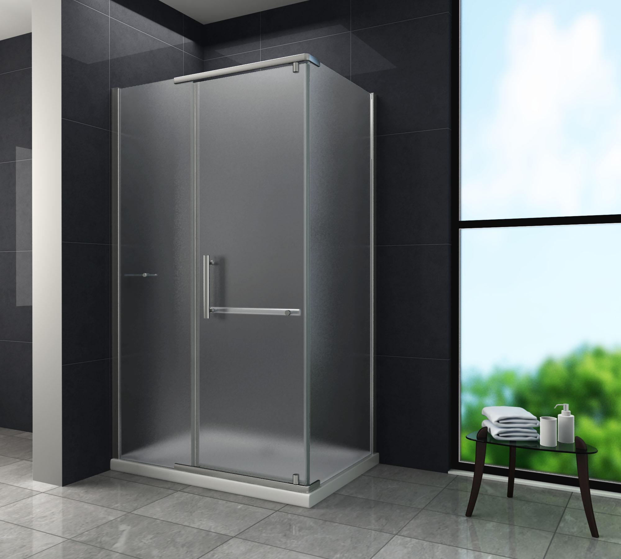duschkabine cerra frost 100 x 80 x 195 cm ohne duschtasse glasdeals. Black Bedroom Furniture Sets. Home Design Ideas
