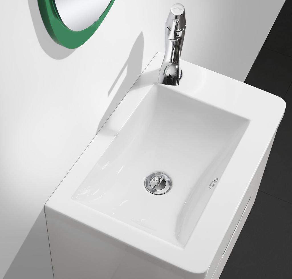 Badmöbel-Set COLORI 55 (weiß-grün) - Duschdeals