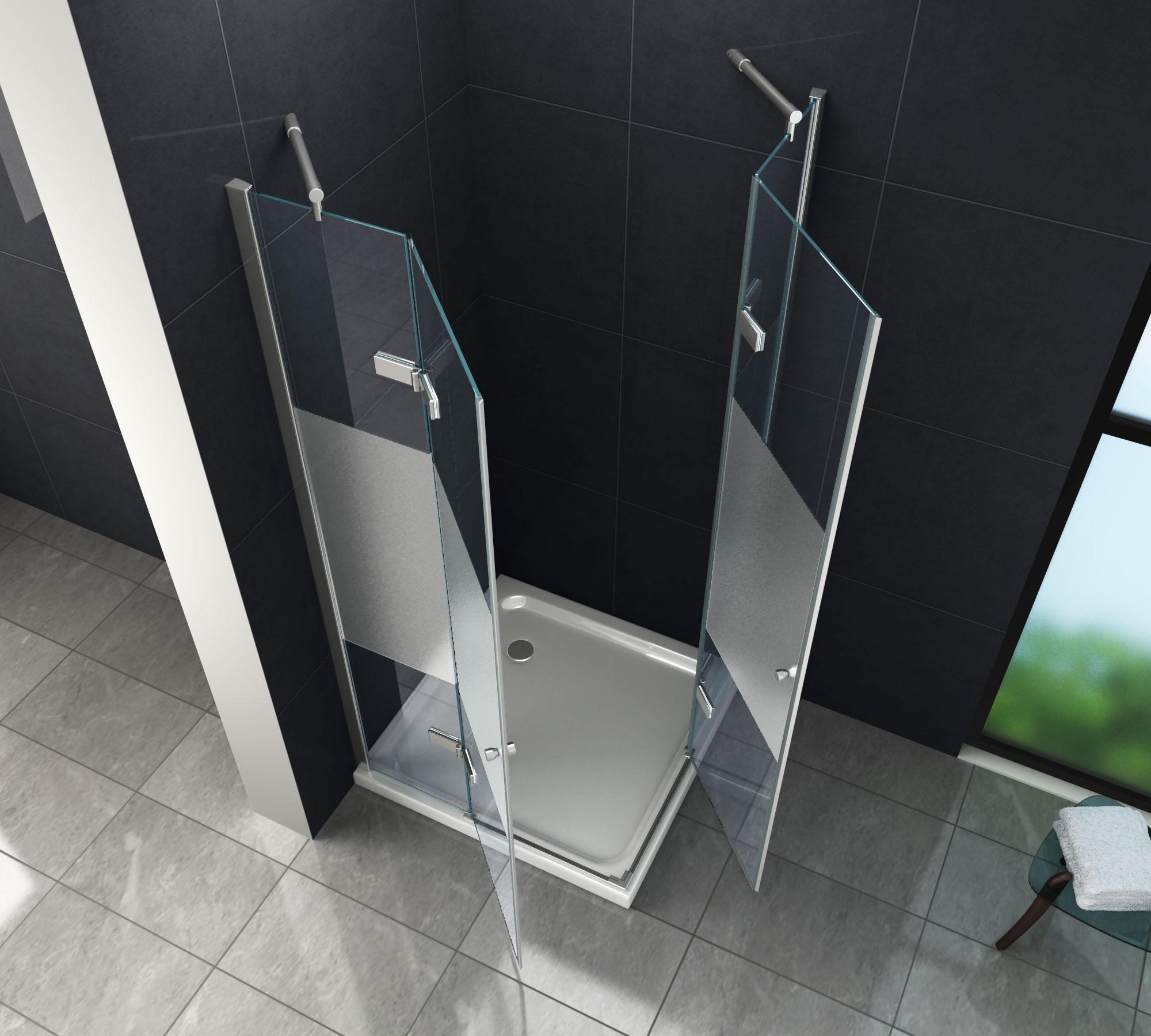 duschkabine corno cover 90 x 90 x 195 cm ohne duschtasse glasdeals. Black Bedroom Furniture Sets. Home Design Ideas