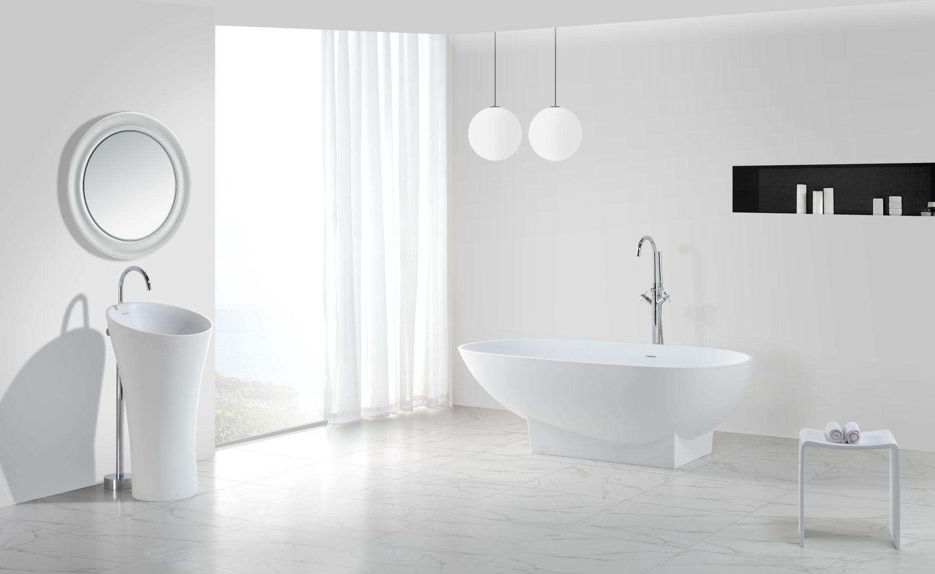 freistehende badewanne mineralguss sonstige preisvergleiche erfahrungsberichte und kauf bei. Black Bedroom Furniture Sets. Home Design Ideas