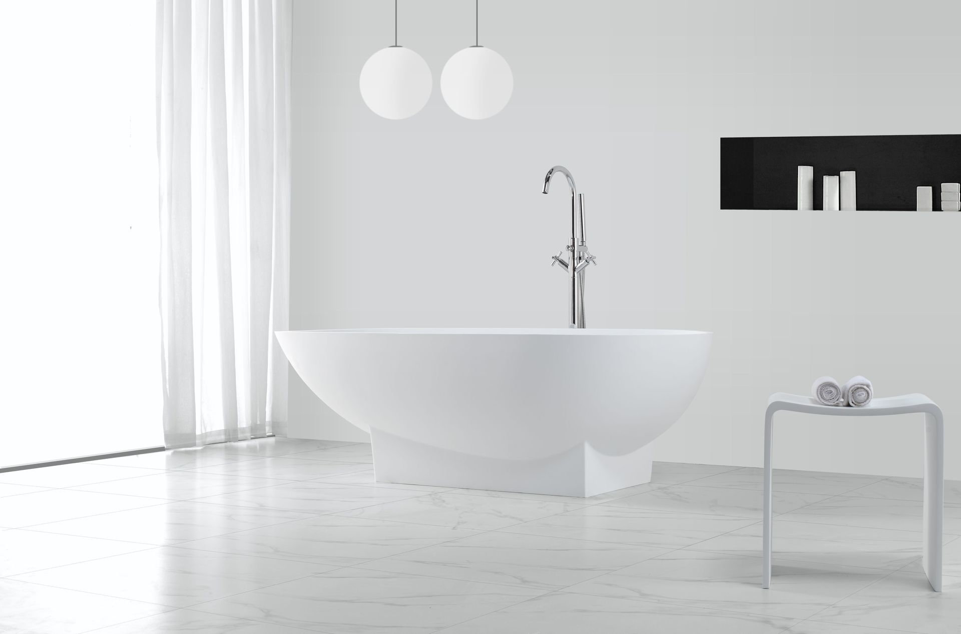 mineralguss badewanne delugo freistehend glasdeals. Black Bedroom Furniture Sets. Home Design Ideas