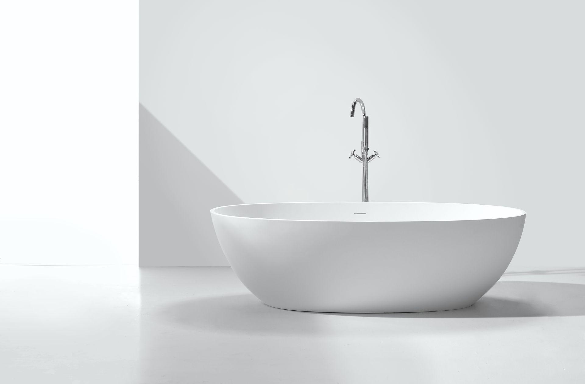 Mineralguss badewanne ductilo freistehend duschdeals for Badewanne freistehend mineralguss