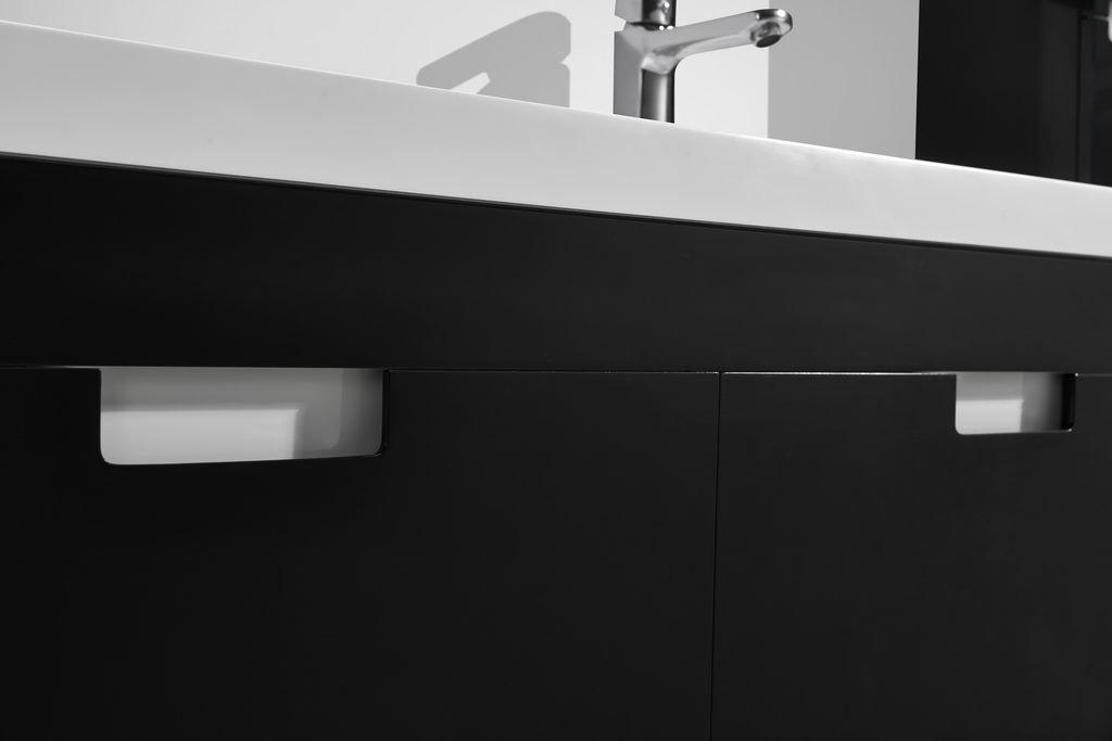 Badmöbel-Set GLOSSO 120 (hochglanz-schwarz) - Duschdeals