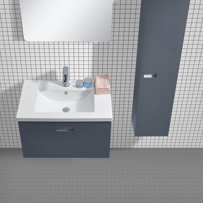 badm bel set glosso 75 hochglanz grau glasdeals. Black Bedroom Furniture Sets. Home Design Ideas