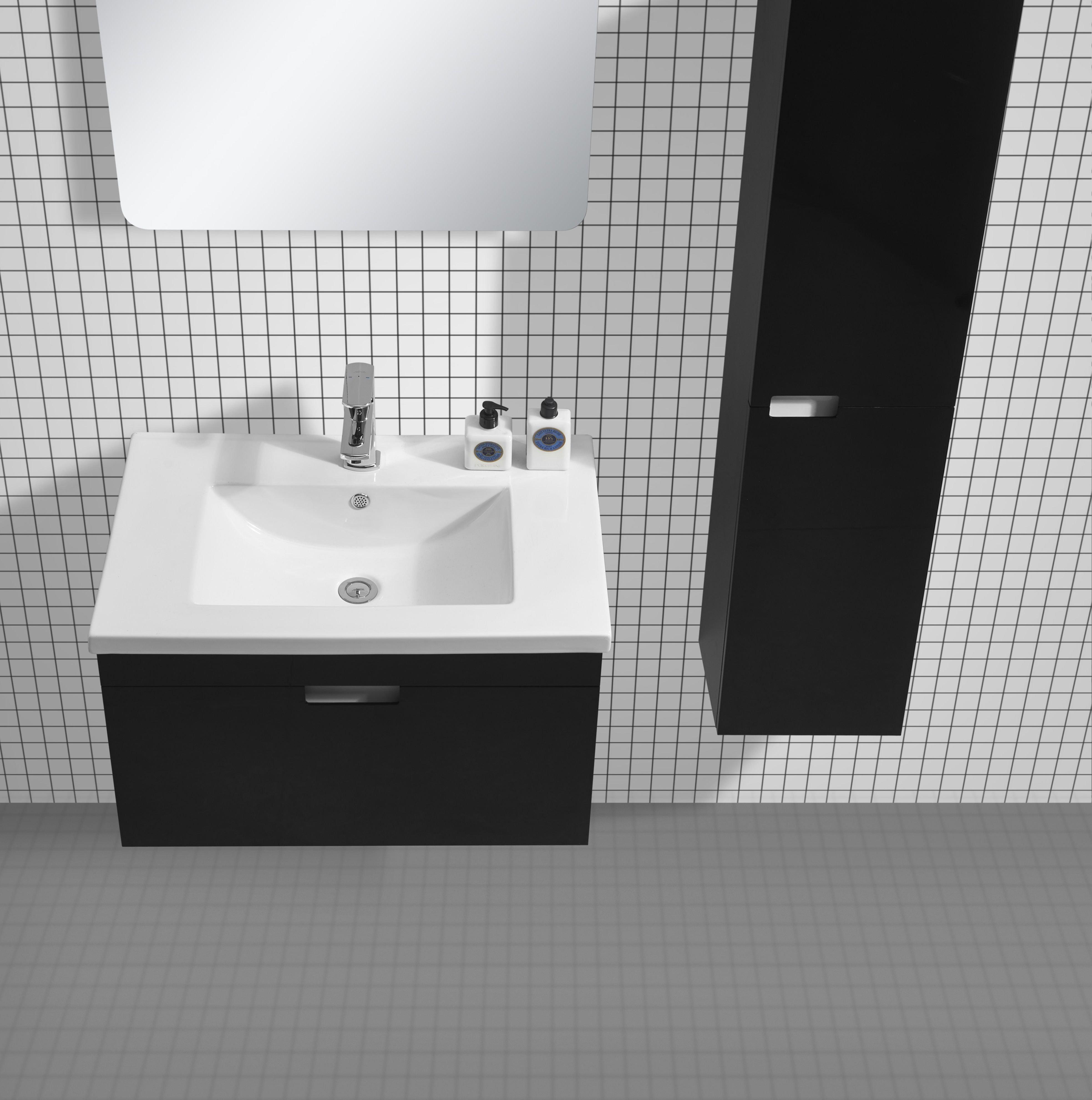 badm bel set glosso 75 hochglanz schwarz glasdeals. Black Bedroom Furniture Sets. Home Design Ideas