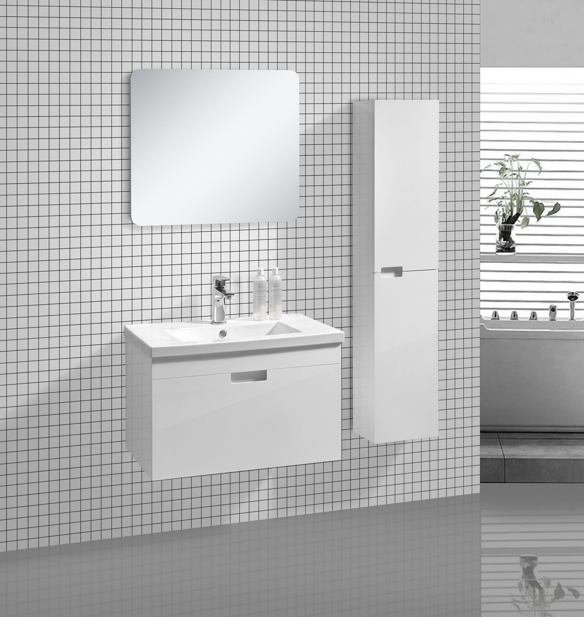 badm bel set glosso 75 hochglanz wei glasdeals. Black Bedroom Furniture Sets. Home Design Ideas
