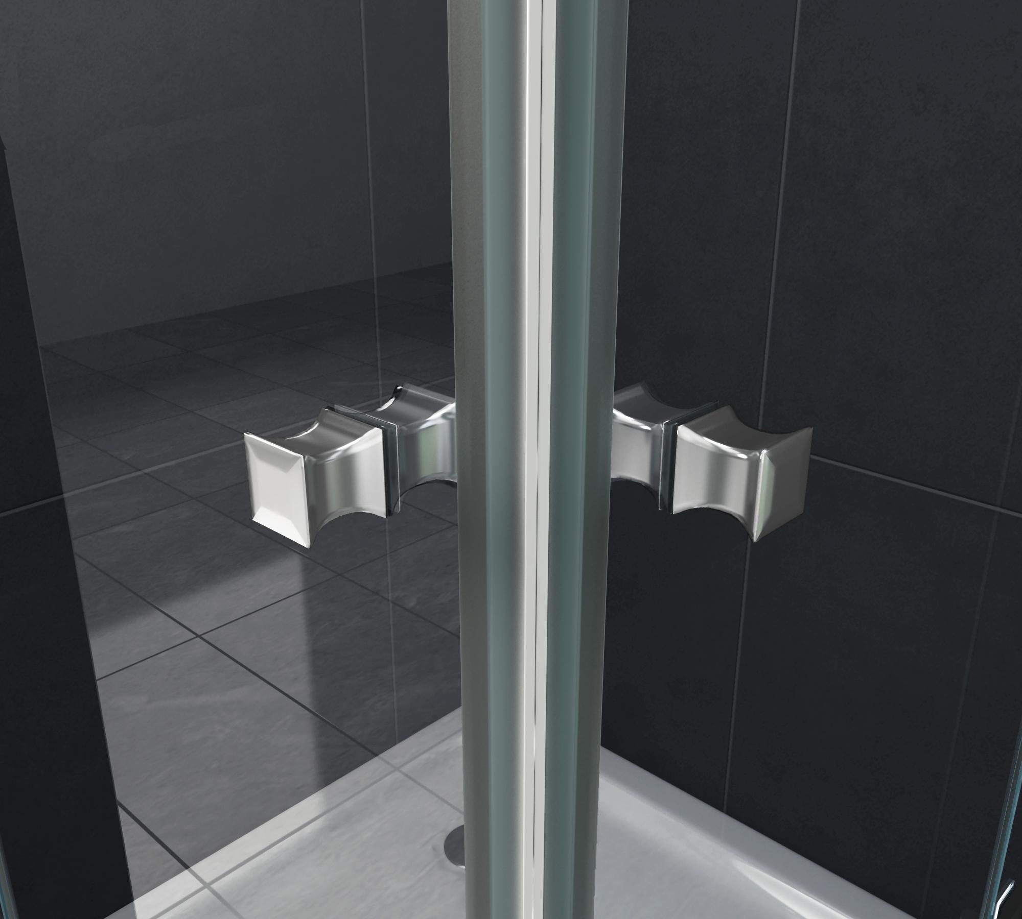 rahmenlose duschkabine luxorline 120 x 100 x 195 cm ohne. Black Bedroom Furniture Sets. Home Design Ideas