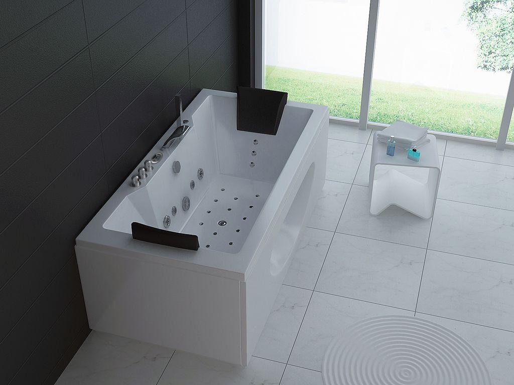 whirlpool badewanne posaro 180 x 90 cm glasdeals. Black Bedroom Furniture Sets. Home Design Ideas