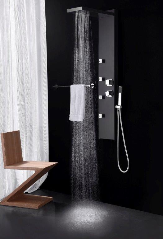 duschpaneel ugello schwarz glasdeals. Black Bedroom Furniture Sets. Home Design Ideas