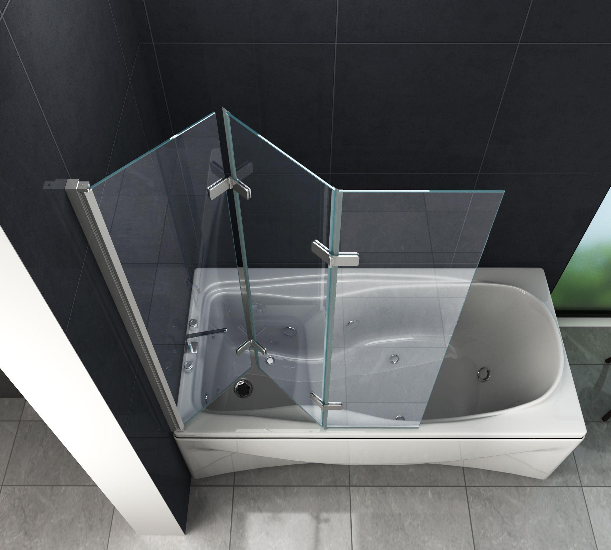 Duschtrennwand VALVE 130 x 140 (Badewanne) - Glasdeals