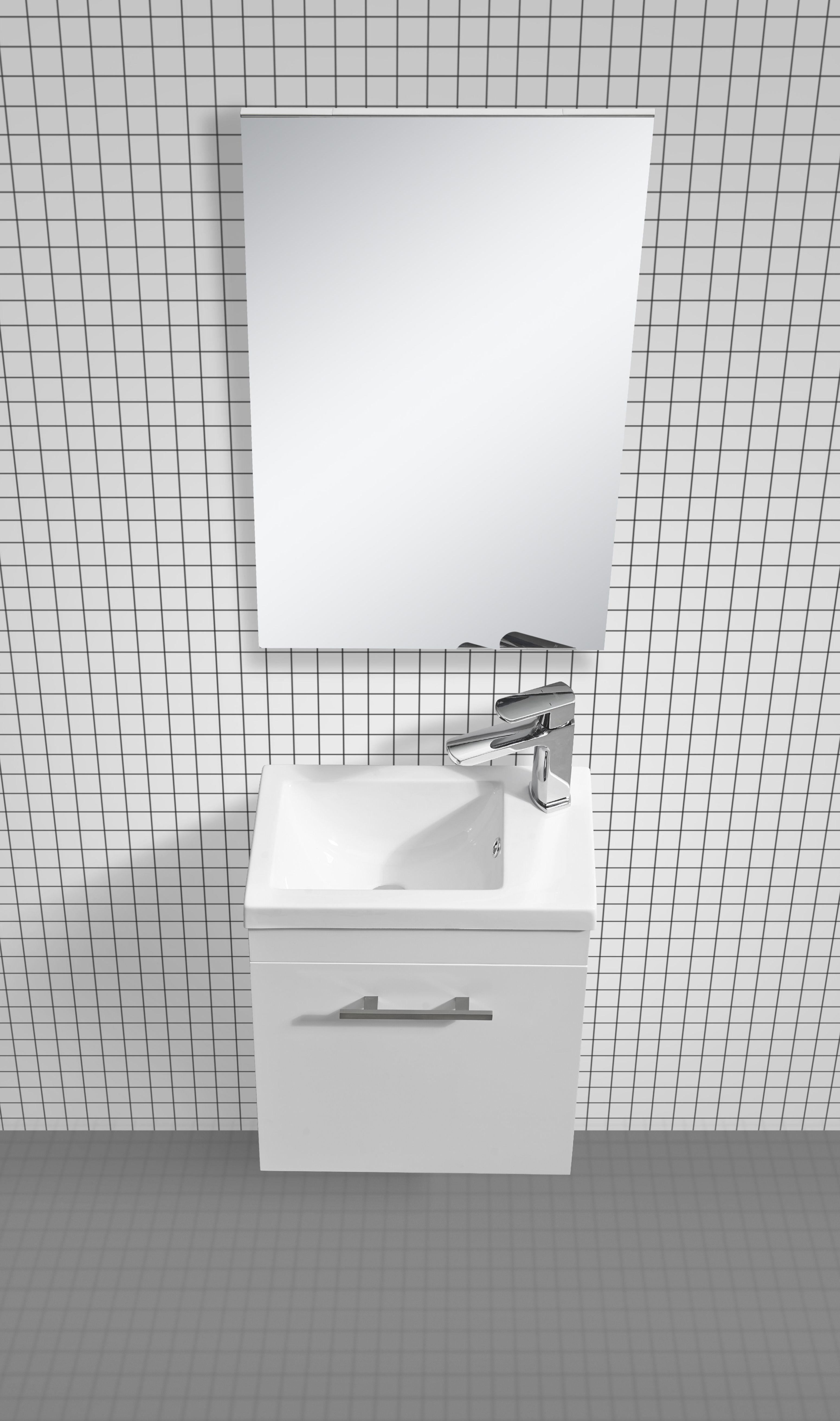 Badmöbel-Set VISITO 45 (weiß) - Duschdeals