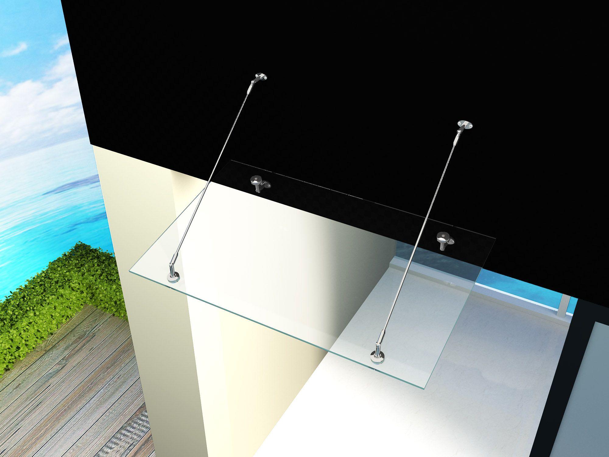 glas vordach 200 x 90 cm duschdeals. Black Bedroom Furniture Sets. Home Design Ideas