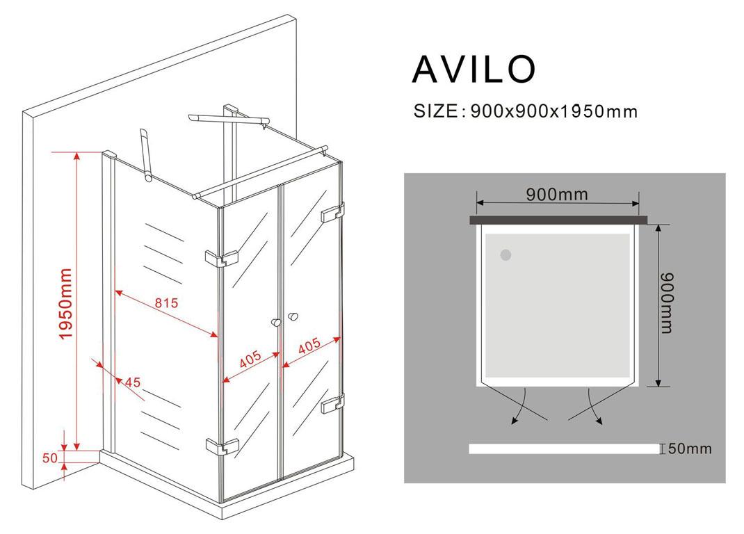 u duschkabine avilo 90 x 90 x 200 cm inkl duschtasse. Black Bedroom Furniture Sets. Home Design Ideas