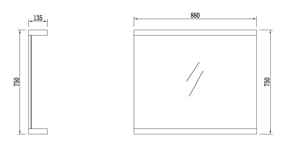 Badmöbel LED - Spiegel OPORTO (weiß) - Duschdeals