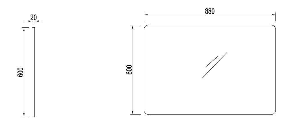 Badmöbel Spiegel OPORTO (weiß) - Duschdeals